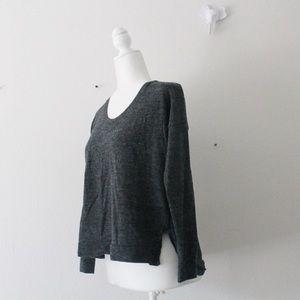 Madewell WOOL Long Sleeve Knit Sweater Top